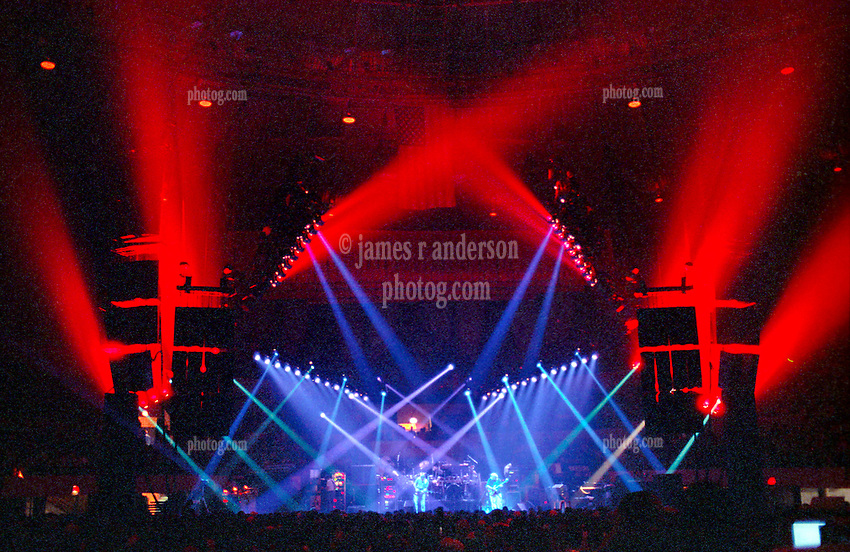 """Dramatic Lighting by Candace Brightman during the Grateful Dead Live Performance at the Hampton Coliseum on 8 October 1989. One of the Eleven images included in the CD boxed set release, """"Formerly The Warlocks"""". Can be purchased individually or as part of a special limited set of all 11 in the package printed by the photographer. Choose in Cart."""