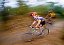 CC98160-10...WASHINGTON - Mountain bikers in the Cascade foothills. (MR-yes)