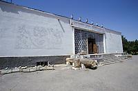 The Penjikent Museum in central western Tajikistan