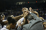 The team huddles together for the last time in Memorial Coliseum after the UK vs. Tennessee in Lexington, Ky., on Sunday, March 3, 2013. Photo by Emily Wuetcher | Staff....