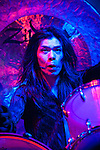 Atsuo, the drummer for Boris performing at the Fun Fun Fun Fest at Auditorium Shores, Austin Texas, November 6, 2011.