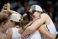 SPOKANE, WA - MARCH 28, 2011: Sarah Boothe, Stanford Women's Basketball vs Gonzaga, NCAA West Regional Finals at the Spokane Arena on March 28, 2011.