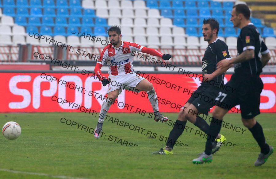 Fudbal Jelen Super League season 2015-2016<br /> Crvena Zvezda v Vozdovac<br /> Hugo Oliveira Vieira (L)<br /> Beograd, 28.11.2015.<br /> foto: Srdjan Stevanovic/Starsportphoto&copy;