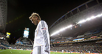 David Beckham walks towards the sidelines to take a corner kick. Real Salt Lake defeated the LA Galaxy 5-4 on penalty kicks to win the 2009 MLS Cup Championships in Seattle, WA, Sunday, Nov. 22, 2009.
