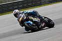 February 5, 2010 - Kuala Lampur, Malaysia - Spanish rider Alvaro Bautista (Rizla Suzuki MotoGP) powers his bike for testing on Sepang International Circuit on February 5, 2010. (Photo Andrew Northcott/Nippon News)