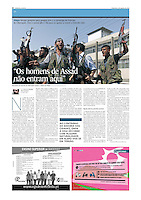 Tearsheet of &quot;Syria: FSA in Aleppo&quot; published in Expresso
