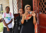 High school students during a photo workshop in Likoni, Kenya.   The workshop was organized by the Hatua Likoni .Foundation's founder Gabrielle Fondiller and New York photographer Todd Shapera with cameras from U.S. donors.   The students receive financial scholarships from the Hatua Likoni Foundation to enable them to attend a quality, private high school in Likoni - Moi Forces.  The workshop took place on two Sunday afternoons in February for 32 students, and is part of a Sunday mentoring program offered by Hatua Likoni to the Foundation's scholarship students.