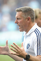 Kansas City head coach Peter Vermes... Sporting Kansas City defeated San Jose Earthquakes 2-1 at LIVESTRONG Sporting Park, Kansas City, Kansas.