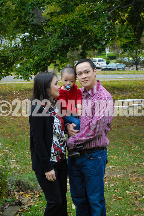 10/14/12 11:21:27 AM - Newtown, PA.. -- The Nguyen family is photographed October 14, 2012 in Doylestown, Pennsylvania. -- (Photo by William Thomas Cain/Cain Images)