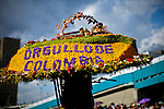 """A silletero carries flowers while he attends the traditional """"Silletero"""" parade during the Flower Festival in Medellin August 7, 2012. Photo by Eduardo Munoz Alvarez / VIEW."""