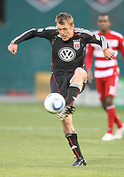 Adam Cristman #7 of D.C. United scored two goals during a US Open Cup match against F.C. Dallas on April 28 2010, at RFK Stadium in Washington D.C. United won 4-2.