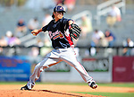 2 March 2010: Atlanta Braves pitcher Jesse Chavez in action against the New York Mets during the Opening Day of Grapefruit League play at Tradition Field in Port St. Lucie, Florida. The Mets defeated the Braves 4-2 in Spring Training action. Mandatory Credit: Ed Wolfstein Photo