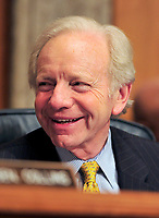 United States Senate Homeland Security and Government Affairs Committee Chairman Joseph Lieberman (Independent Democrat of Connecticut) listens as U.S. Secretary of Homeland Security Janet Napolitano testifies before the committee on the  fiscal 2012 budget for the programs and activities of the Department of Homeland Security in Washington, D.C. on Thursday, February 17, 2011. .Credit: Ron Sachs / CNP/MediaPunch