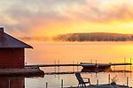 Sunrise on Lake Winnisquam, Sanbornton, New Hampshire, USA