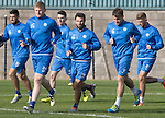 St Johnstone Training&hellip;.30.09.16<br />Brian Easton, Richie Foster and Paul Patonpictured during training this morning<br />Picture by Graeme Hart.<br />Copyright Perthshire Picture Agency<br />Tel: 01738 623350  Mobile: 07990 594431
