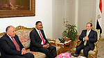 Egyptian President Abdel Fattah al-Sisi meets with Ethiopian Foreign Minister Workneh Gebeyehu, in Cairo, Egypt on April 19, 2017. Photo by Egyptian President Office