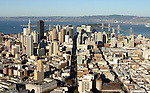 October 10, 2004; San Francisco, CA, USA; Aerial view of Market street in downtown San Francisco and the San Francisco/Oakland Bay Bridge to Berkeley, CA. Photo by: Phillip Carter