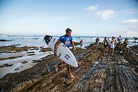 Snapper Rocks, Coolangatta Queensland Australia (Monday, March 14 2016): Jack Freestone (AUS) - Round Two of the first WCT event of the year, the Quiksilver Pro Gold Coast, was completed this morning followed by Round Three and two heats of Round Four.  The upsets continued with the Tour Rookies taking out out a good proportion of the heats with Stu Kennedy(AUS) again showing great form by defeating Gabriel Medina (BRA). The event was put on hold for over 2 hours while organisers waited for the tide to drop. The surf was in the 4'-5' range most of the day.Photo: joliphotos.com