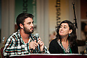 "Documentary subject Dominic Fredianelli and filmmaker Heather Courtney sit on the panel of the ""Where Soldiers Come From"" session at the Gathering of the National Rural Assembly."