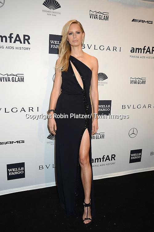 Karolina Kurkova attends the amfAR New York Gala on February 5, 2014 at Cipriani Wall Street in New York City.