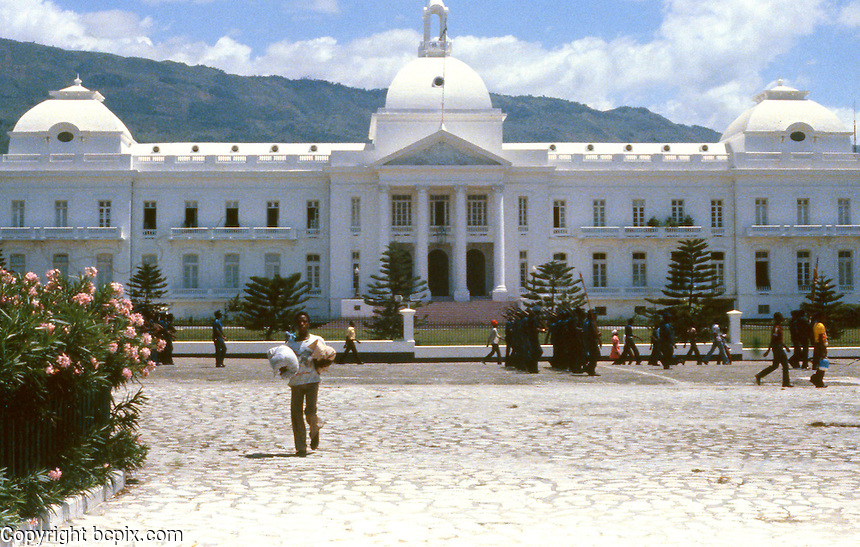 Presidential Palace in Port-Au-Prince, Haiti, 1981.  (Photo by Edward Cleary/www.bcpix.com)