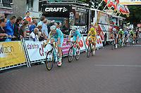 WIELRENNEN: SURHUISTERVEEN: 05-08-2014, Profronde Surhuisterveen, Alessandro Vanotti voor Lieuwe Westra en Vincenzo Nibali, ©foto Martin de Jong