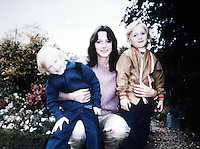 Pix: Copyright Anglia Press Agency/Archived via SWpix.com. The Bamber Killings. August 1985. Murders of Neville and June Bamber, daughter Sheila Caffell and her twin boys. Jeremy Bamber convicted of killings serving life...copyright photograph>>Anglia Press Agency>>07811 267 706>>..Sheila Caffell with her twin boys, Daniel (left) and Nicholas (right). no date..ref 00010 neg ? .
