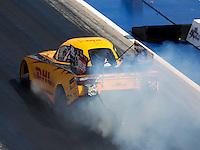 Sep 17, 2016; Concord, NC, USA; NHRA funny car driver Del Worsham during qualifying for the Carolina Nationals at zMax Dragway. Mandatory Credit: Mark J. Rebilas-USA TODAY Sports