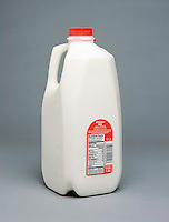 POLYETHYLENE - HIGH DENSITY: ONE HALF GALLON JUG<br /> 1.89 L Container of Vitamin D Milk.