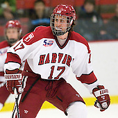 Rence Coassin (Harvard - 17) - The Harvard University Crimson defeated the visiting Colgate University Raiders 6-2 (2 EN) on Friday, January 28, 2011, at Bright Hockey Center in Cambridge, Massachusetts.