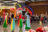 A packed house watched as young dancers performed traditional dances for the Lunar New Year event at the San Leandro Library.