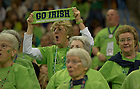 Apr 7, 2013; Irish fans cheer the team on as they battle Connecticut during the semifinals of the 2013 NCAA women's basketball Final Four at the New Orleans Arena. Connecticut defeated Notre Dame 83 to 65. Photo by Barbara Johnston/ University of Notre Dame