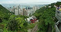 Multiple image panorama of view from The Peak, Hong Kong Hong Kong, China