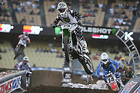01/22/11 Los Angeles, CA: Ryan Villopoto during the 1st ever AMA Supercross held at Dodger Stadium.