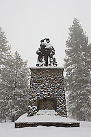 """Donner Party Memorial"" - The memorial for the infamous Donner Party in Truckee, CA."