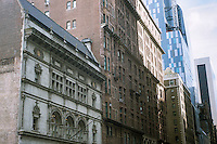 The historic Art Students League. left, with other contrasting buildings on West 57th street in New York is seen on Sunday, January 20, 2013. (© Richard B. Levine)