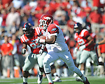 Ole Miss vs. Arkansas wide receiver Joe Adams (3) at Vaught-Hemingway Stadium in Oxford, Miss. on Saturday, October 22, 2011. .