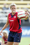 23 October 2005: US Women's National Team member Aly Wagner, pregame. The United States Women's National Team defeated Mexico 3-0 at Blackbaud Stadium in Charleston, South Carolina in an International Friendly soccer match.