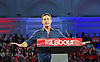 Ed Miliband <br /> Leader of the Labour Party <br /> Campaign Event at The Royal Horticultural Halls, 80 Vincent Square, London, SW1P 2PE<br /> 2nd May 2015 <br /> <br /> Ed Miliband MP <br /> Labour Leader <br /> General Election Campaign 2015 <br /> <br /> Jason Isaacs <br /> actor <br /> <br /> Photograph by Elliott Franks <br /> Image licensed to Elliott Franks Photography Services