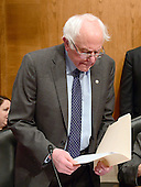 United States Senator Bernie Sanders (Independent of Vermont) looks over his notes prior to the US Senate Committee on Health, Education, Labor and Pensions hearing  considering the confirmation of Betsy DeVos of Grand Rapids, Michigan to be US Secretary of Education on Capitol Hill in Washington, DC on Tuesday, January 17, 2017.<br /> Credit: Ron Sachs / CNP