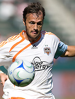 Houston Dynamo defender Eddie Robinson moves to the ball. The Houston Dynamo defeated Chivas USA 3-2 at Home Depot Center stadium in Carson, California on Sunday October 25, 2009...