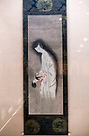 Photo shows  a scroll painted by an unknown artist during the Edo Period (1603 to 1868)  that hangs in the Honma Museum of Art in Sakata, Yamagata Prefecture, Japan, on July 06, 2012. Photographer: Robert Gilhooly