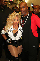NEWARK, NJ - SEPTEMBER 25: Lil Kim and DMX pictured backstage at the Bad Boy Family Reunion concert at The Prudential Center in Newark, New Jersey on September 25, 2016. Credit: Walik Goshorn/MediaPunch