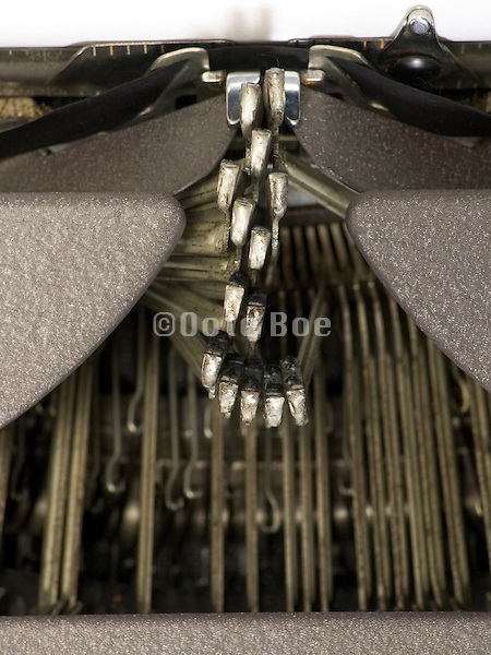 antique typewriter with the keys blocked