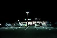 Night view of a department store following the 311 Tohoku Tsunami in Otsuchi, Japan  © LAN