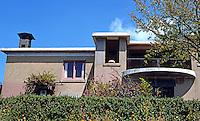 Bernard Maybeck: Lawson House, La Loma, Berkeley 1907. Garden side. Photo '76.
