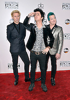 LOS ANGELES, CA - NOVEMBER 20: Green Day at the 44th Annual American Music Awards at the Microsoft Theatre in Los Angeles, California on November 20, 2016. Credit: Koi Sojer/Snap'N U Photos/MediaPunch