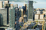Aerial Photos-Amazon buildings, South Lake Union, Seattle