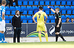 St Johnstone v Hearts&hellip;17.09.16.. McDiarmid Park  SPFL<br />Robbie Neilson is sent to the stands by referee John Beaton<br />Picture by Graeme Hart.<br />Copyright Perthshire Picture Agency<br />Tel: 01738 623350  Mobile: 07990 594431