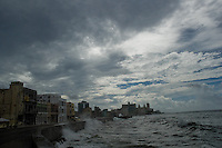 Malecón, the most famous promenade and seawall in Havana, seen during a hurricane, Cuba, 18 August 2008. About 50 years after the national rebellion, led by Fidel Castro, and adopting the communist ideology shortly after the victory, the Caribbean island of Cuba is the only country in Americas having the communist political system. Although the Cuban state-controlled economy has never been developed enough to allow Cubans living in social conditions similar to the US or to Europe, mostly middle-age and older Cubans still support the Castro Brothers' regime and the idea of the Cuban Revolution. Since the 1990s Cuba struggles with chronic economic crisis and mainly young Cubans call for the economic changes.